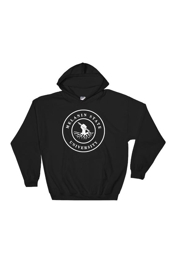 b32ed9c95ed Melanin State University Unisex Pullover Hoodie Black Fist