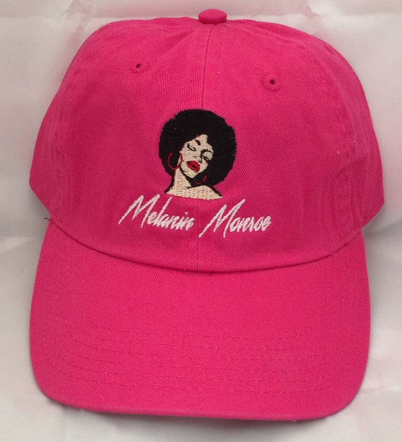 0ca54dc8ed927 Melanin Monroe Embroidered Dad Hat Melanin Dad Hat