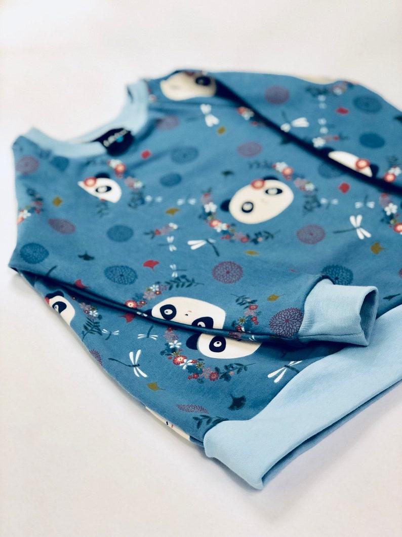 e9521104781 Childrens Panda Jumper/ flowery panda Sweater/ Baby Girl/ Baby Boy/  Childrens Jumper/ Baby Unisex Clothing
