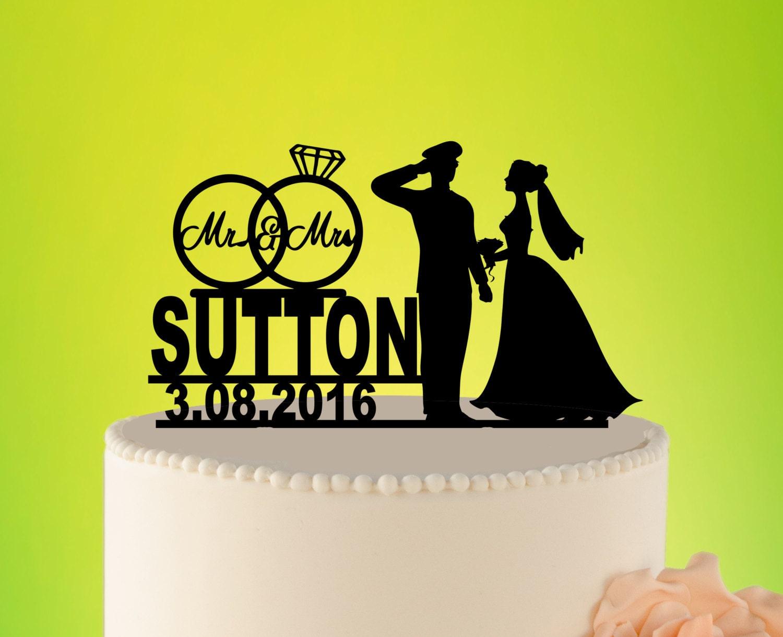 Military Wedding Cake Topper Wedding Cake topper Custom   Etsy