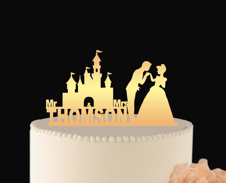 DISNEY cake Decoration Disney Wedding Cake Topper Cinderella | Etsy
