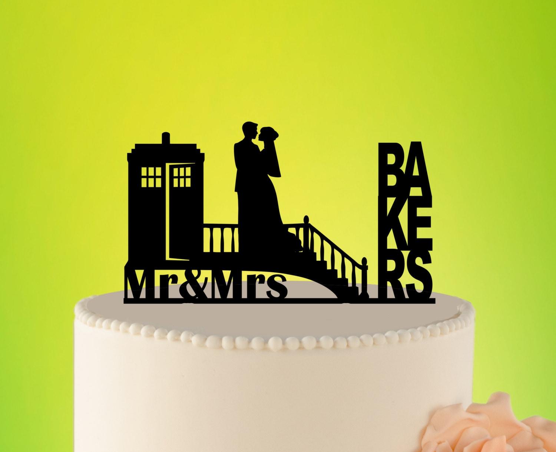 TARDIS Wedding Cake Topper Doctor Who Wedding Cake Topper   Etsy