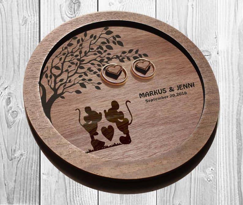 3631792ee5 DISNEY Wedding ring holder Ring dish Disney Wood ring dish | Etsy