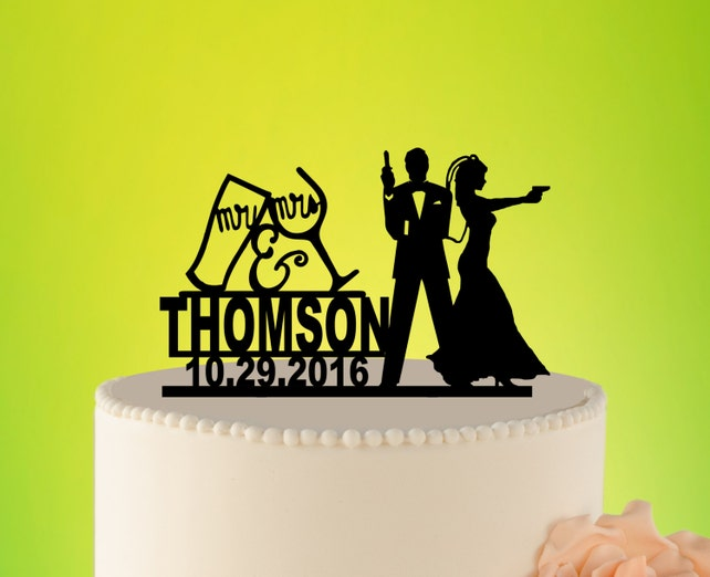 JAMES BOND Wedding Cake Topper 007 Wedding Cake Topper | Etsy