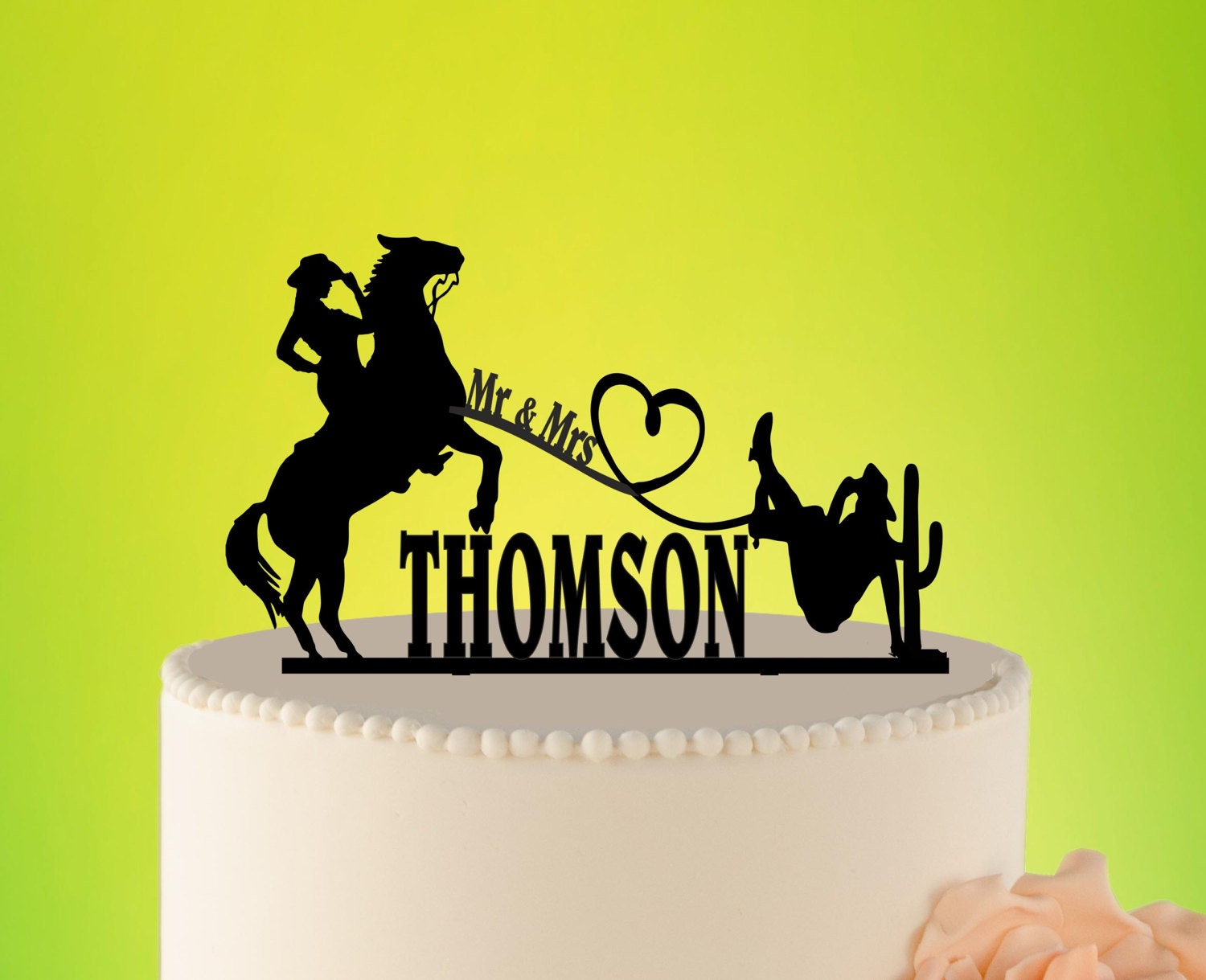 Country Wedding cake topper Cowboy cake Topper western cake | Etsy