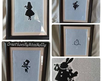 Alice in Wonderland full book art/ picture frame/ mount/ print/Sherlock/Beatrice Potter/Beauty and the Beast/Cinderella/wizard of oz/