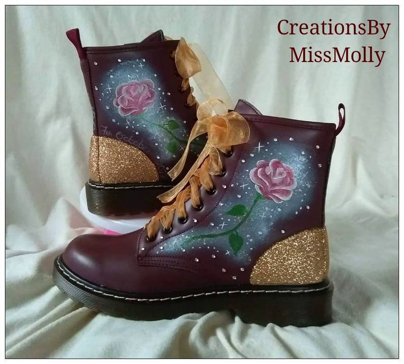 7c80f1480897 Beauty and the Beast inspired converse Disney Inspired Shoes