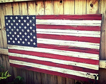 American Flag, Wood American Flag, Rustic American Flag, Wooden American Flag, American Flag, Rustic Wood Flag, Barn wood flag, Gift