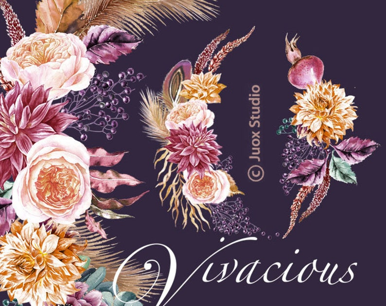 Branches Ribbons Floral Clip Art Rustic Clipart Shabby Chic Spring Country Wedding Clipart Banners Flower Wreth Clip Art