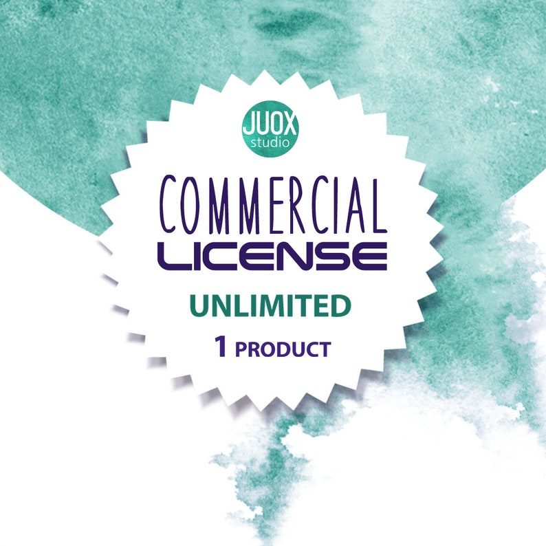 1 product Extended Commercial License for Commercial Use of Patterns unlimited prints  usage Graphic Design