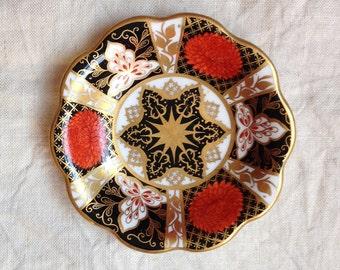 Vintage Bone China Ring Dish - Chrysanthemum Trinket Dish - Miniature Plate - Floral Pin Dish - Imari Style Dish - Mother's Day Gift