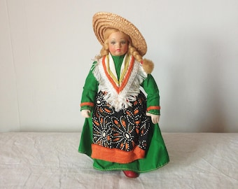 Vintage Souvenir Doll - Vintage Cloth Doll - Foreign Doll Collectible - Vintage Folk Art Costume Doll - Austrian Doll - Alpine Doll