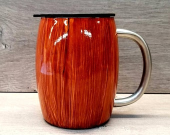 Personalized Coffee Mug ~ Wood Grain Coffee Mug ~ Wood Grain Tumbler ~ Woodgrain Tumbler ~ Rustic Tumbler ~ Tumblers for Men