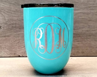 Personalized Wine Tumbler ~ Engraved Wine Glass ~ Wine Lover Gift ~ Custom Wine Tumbler ~ Wine Gifts for Women ~ Bridesmaid Gift