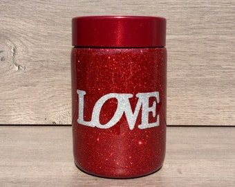 Glitter Can Cooler ~ Ready to Ship ~ Glitter Bottle Cooler ~ Glitter Tumbler ~ Stainless Can Cooler