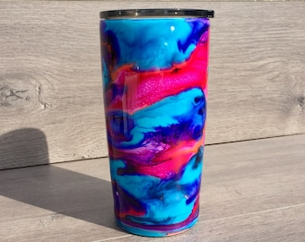 Alcohol Ink Tumbler ~ Ready to Ship ~ Personalized Swirl Tumbler ~ Alcohol Ink Swirl Tumbler ~ 20 oz. HOGG Tumbler