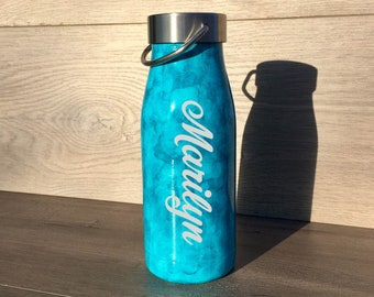 Personalized Water Bottle ~ Ready to Ship~ Alcohol Ink Water Bottle ~ Insulated Water Bottle ~ Watercolor Bottle ~ 12 oz. HOGG Bottle