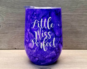 Personalized Wine Tumbler ~ Alcohol Ink Wine Tumbler ~ Watercolor Tumbler ~ Engraved Wine Glass ~ Wine Lover Gift ~ Wine Gifts for Women