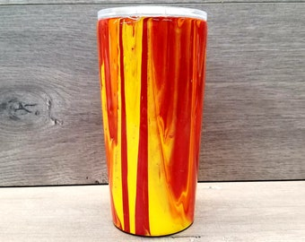 Personalized Dirty Pour Tumbler ~ Acrylic Pour Tumbler