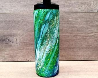 Personalized Glitter Water Bottle