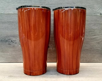 Wood Grain Tumbler ~ Woodgrain Tumbler ~ 30 oz. HOGG Tumbler ~ Rustic Tumbler ~ Tumblers for Men