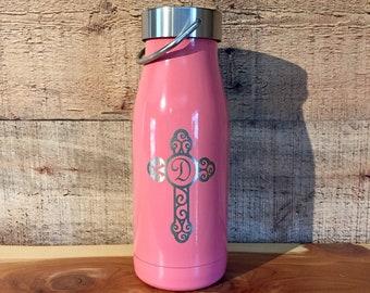 Personalized Water Bottle ~ Powder Coated Bottle ~ Insulated Water Bottle ~ Engraved Water Bottle ~ 12 oz. HOGG Bottle