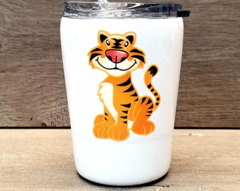 Kids Personalized Glitter Tumbler ~ Tiger