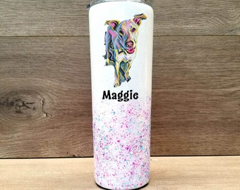 Personalized Pet Glitter Tumbler