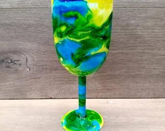 Personalized Wine Tumbler ~ Ready to Ship ~ Alcohol Ink Wine Tumbler ~ Swirl Wine Tumbler ~ Alcohol Ink Swirl Tumbler ~ 10 oz. HOGG Tumbler