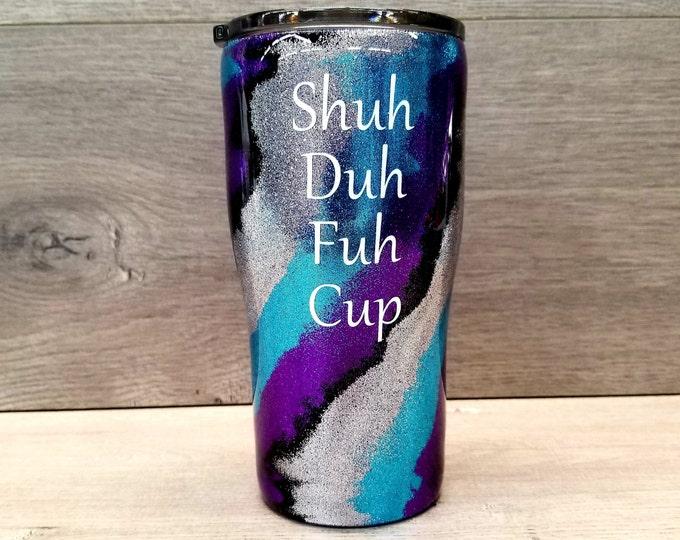 Featured listing image: Glitter Tumbler ~ Glitter Swirl Tumbler ~ Swirl Tumbler ~ Personalized Glitter Tumbler ~ 20 oz. HOGG Tumbler
