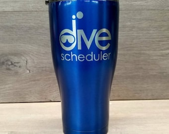 Powder Coated Tumbler ~ Custom Tumbler ~ Personalized Powder Coated Tumbler ~ Tumblers for Men ~ 30 oz. HOGG Tumbler