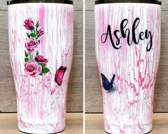 Personalized Crackle Tumbler