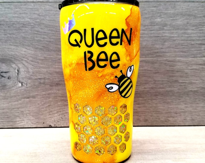 Featured listing image: Personalized Bee Tumbler