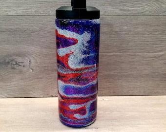 Personalized Water Bottle ~ Ready to Ship ~ Glitter Swirl Water Bottle ~ Glitter Water Bottle ~ Insulated Water Bottle ~ Wide Mouth Bottle