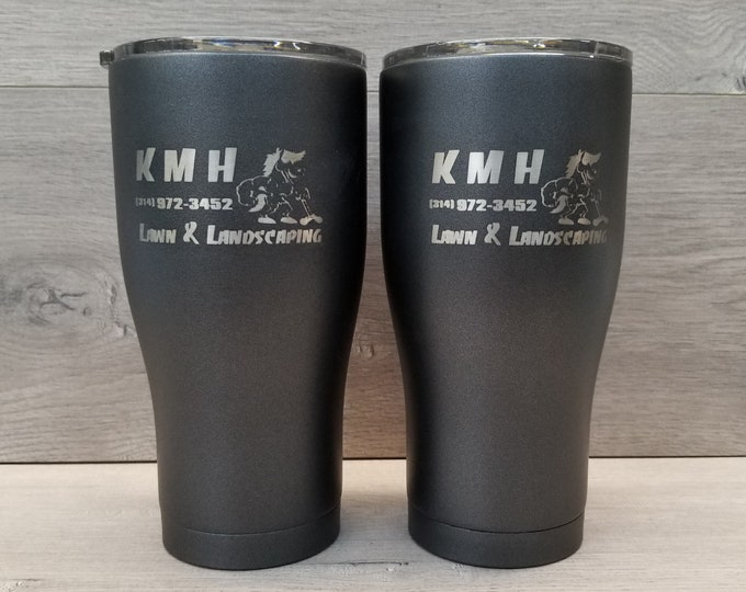 Featured listing image: Powder Coated Tumbler ~ Custom Tumbler ~ Personalized Powder Coated Tumbler ~ Tumblers for Men ~ 30 oz. HOGG Tumbler