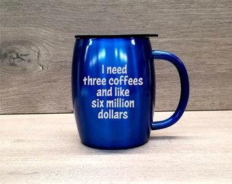 Personalized Coffee Mug ~ Stainless Steel Coffee Mug ~ Insulated Coffee Mug ~ Powder Coated Coffee Mug ~ 14 oz. HOGG Tumbler