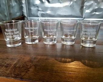Custom Shot Glass ~ Engraved Shot Glass ~ Personalized Engraved Shot Glass ~ Wedding Shot Glass