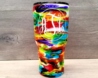 Alcohol Ink Tumbler ~ Swirl Tumbler ~ Alcohol Ink Swirl Tumbler ~ 30 oz. HOGG Twisted Tumbler
