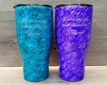 Personalized Alcohol Ink Tumbler