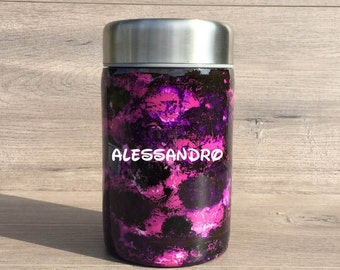 Personalized Alcohol Ink Thermos