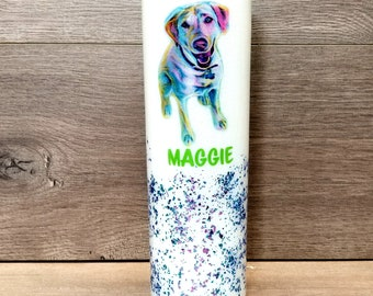Personalized Pet Glitter Tumbler