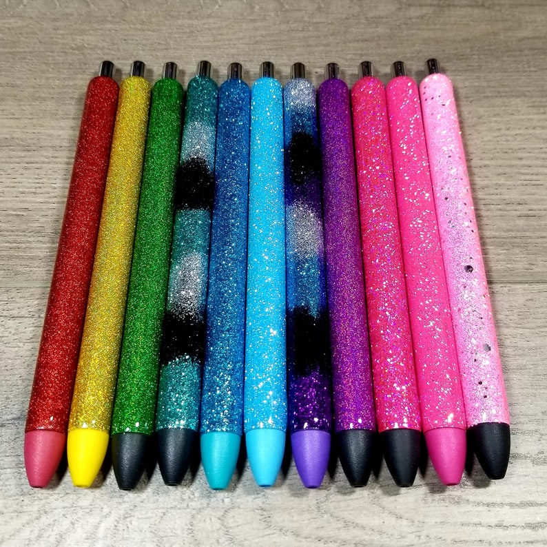 Personalized Glitter Pens  Epoxy Pens  Refill and Pen Sleeve image 0