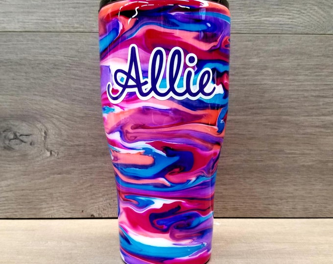 Featured listing image: Personalized Alcohol Ink Tumbler