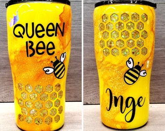 Personalized Bee Tumbler