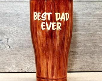 Personalized Woodgrain Tumbler ~ Woodgrain Coffee Mug