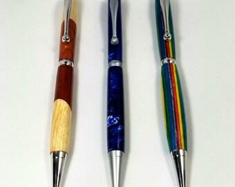 Slimline Wood or Resin Pen ~ Handcrafted Pen