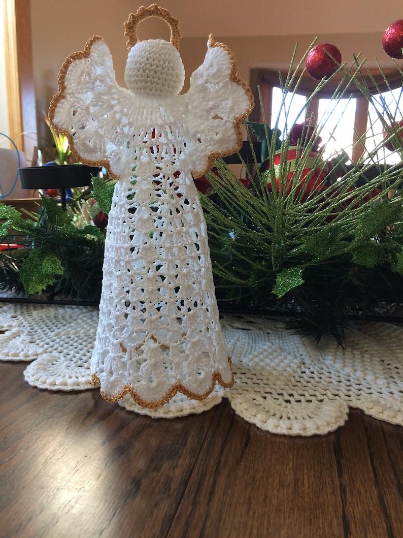 Crochet Angel Tree Topper Crochet Angel White Angel Etsy