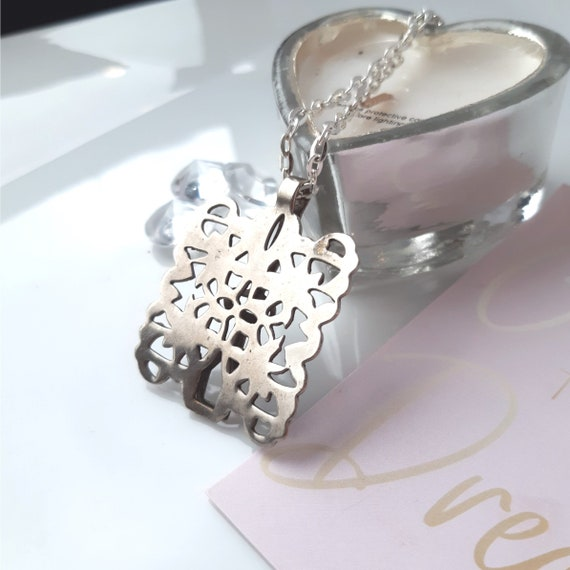 Vintage pendant, Mother's Day,  statement necklac… - image 5