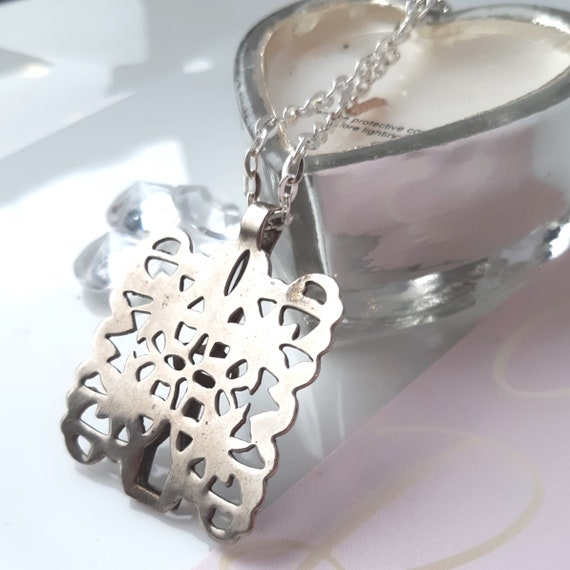 Vintage pendant, Mother's Day,  statement necklac… - image 1