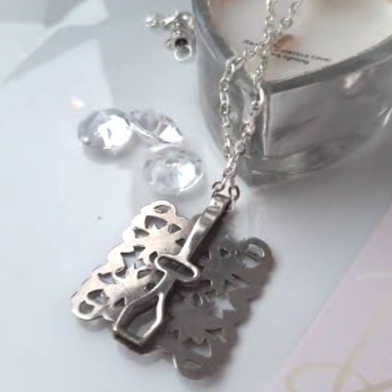 Vintage pendant, Mother's Day,  statement necklac… - image 3